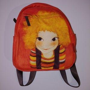 youk shimwon orange small backpack